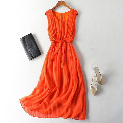 High Quality Silk Midi Dress
