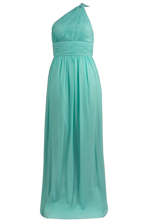 Donna Morgna One Shoulder Chiffon Gown