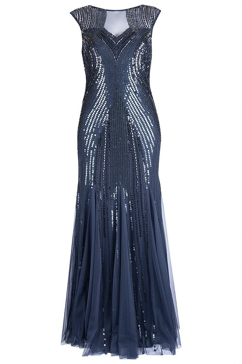Adrianna Papell Full Sequin Godet Gown