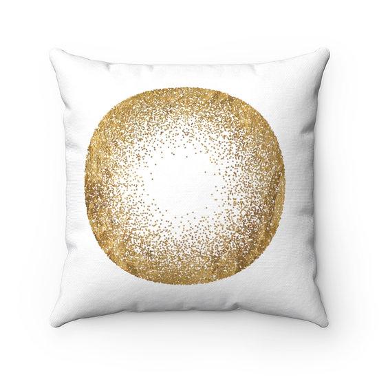 Golden Circle Spun Polyester Square Pillow