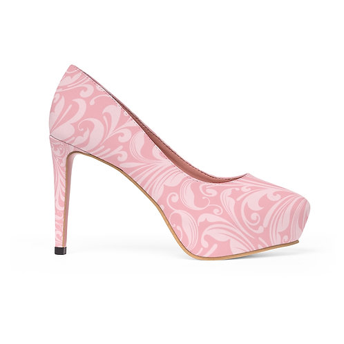 Cotton Candy Swirls Women's Platform Heels