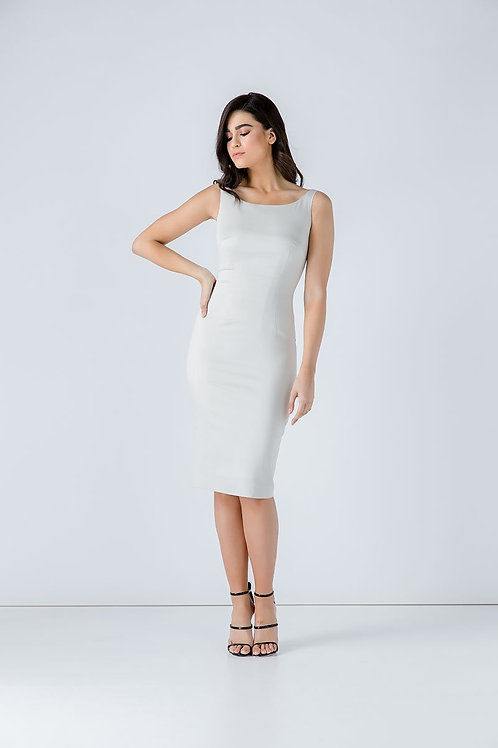 Fitted Sleeveless Dress with Two-Way Zip