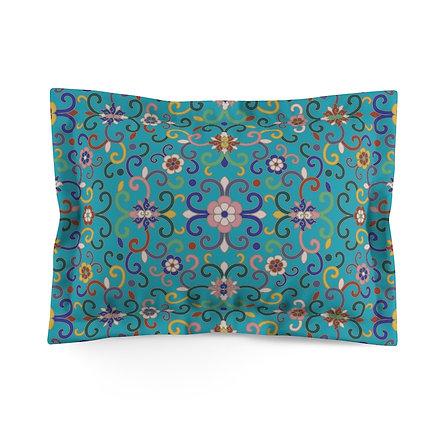Joy (Green) Microfiber Pillow Sham