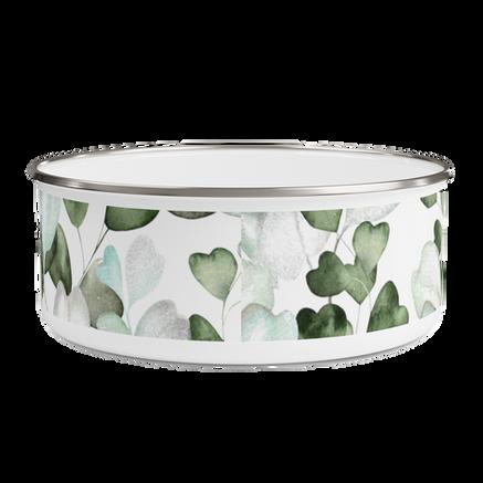Leaves Enamel Bowl