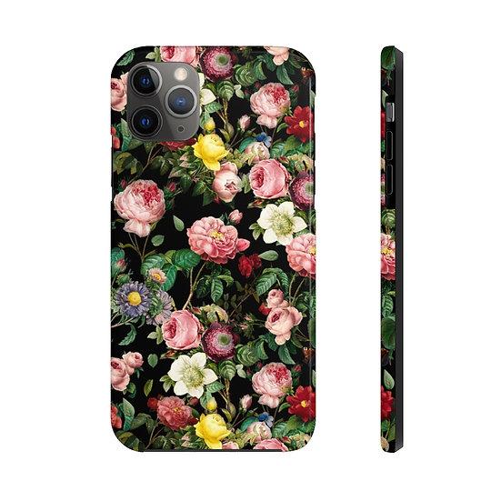 Floral (Black #106) Case Mate Tough Phone Cases