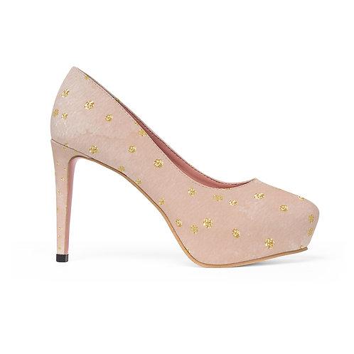 Golden Peach Women's Platform Heels
