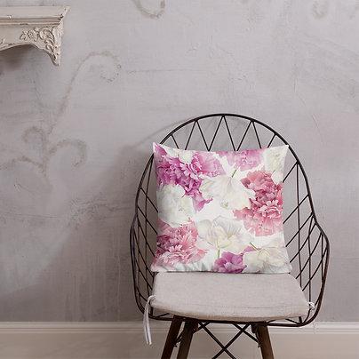 Pink Peonies Premium Pillow