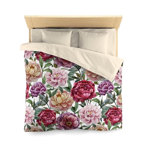 Classic Rose Garden Microfiber Duvet Cover