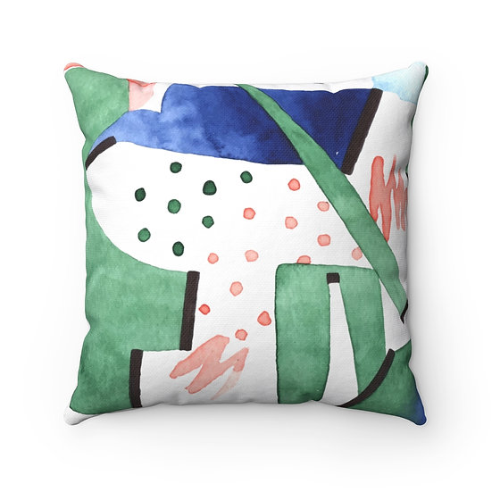 Colorful Architect  Spun Polyester Square Pillow