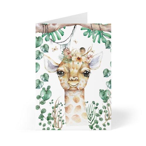 Giraffe Greeting Cards (8 pcs)