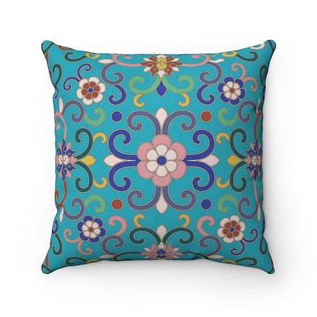 Joy (Persian Green) Faux Suede Square Pillow