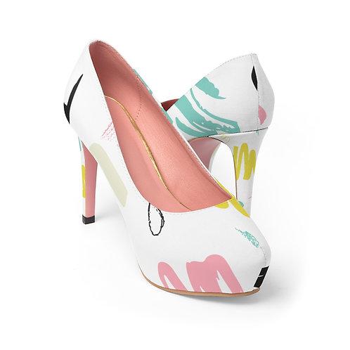 Abstract Women's Platform Heels