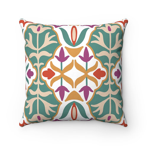 Indian # 3 Spun Polyester Square Pillow