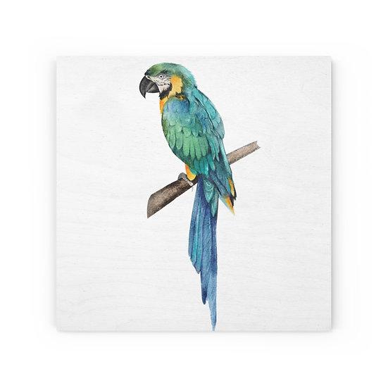 Colorful Parrot Wood Canvas