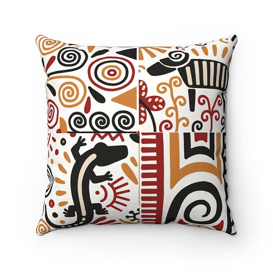 Africa Decor #5 Spun Polyester Square Pillow