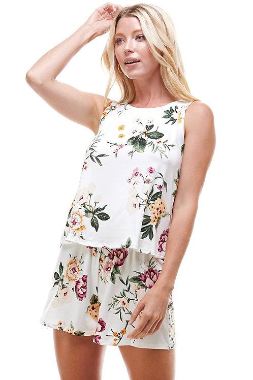 Loungewear set Floral print pajama