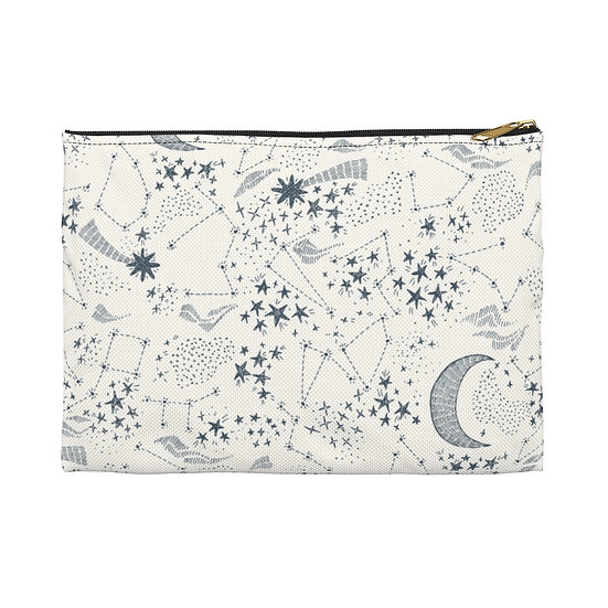 Celestial on White Accessory Pouch