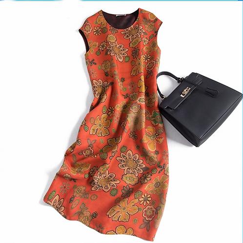 Vintage 100% Silk Dress Shift Dress