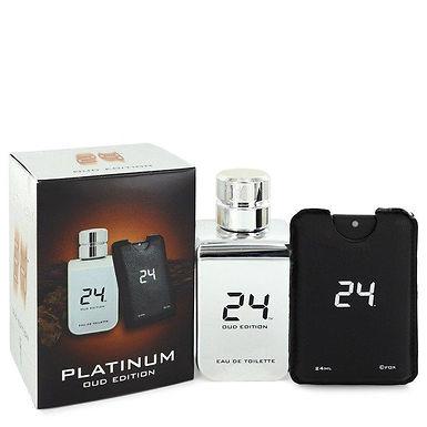 24 Platinum Oud Edition Eau De Toilette Concentree Spray  + 0.8 oz
