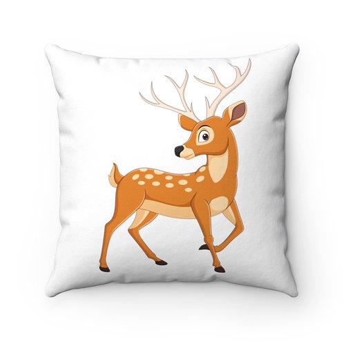 Bird/Deer Spun Polyester Square Pillow
