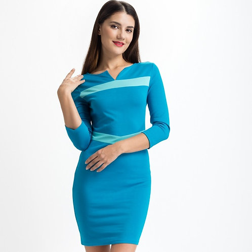 Blue Day to Night Dress