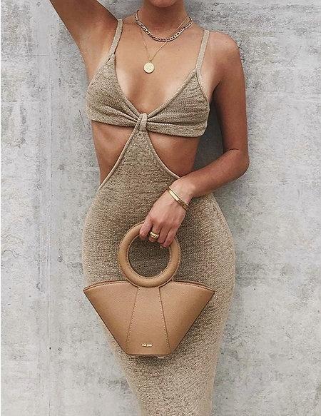 "Knitted ""Bikini Top"" Maxi Dress"