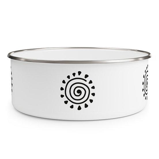 African Design #5 Enamel Bowl