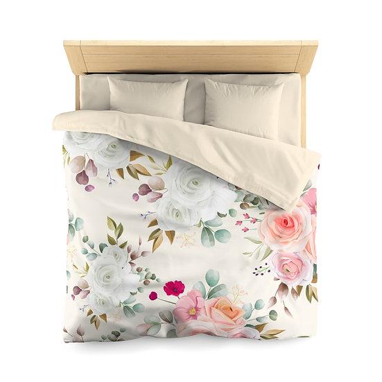 Pastel Floral Microfiber Duvet Cover