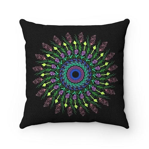 Lavender Flower Spun Polyester Square Pillow