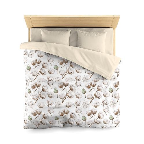 Cotton Flower Microfiber Duvet Cover (Queen only)
