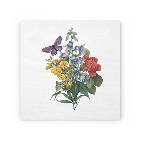Old Fashioned Bouquet Wood Canvas