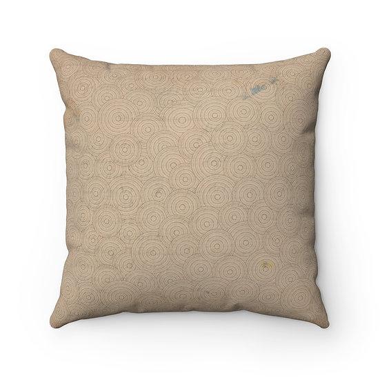 Earth Circles Spun Polyester Square Pillow