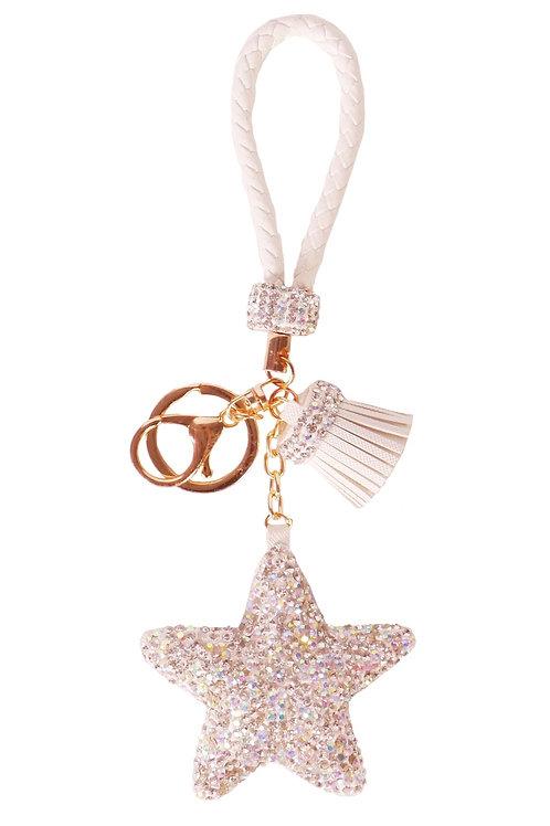 Diamond Charm Star - White