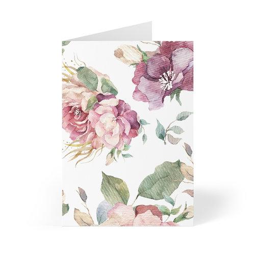 Blush Roses Greeting Cards (8 pcs)