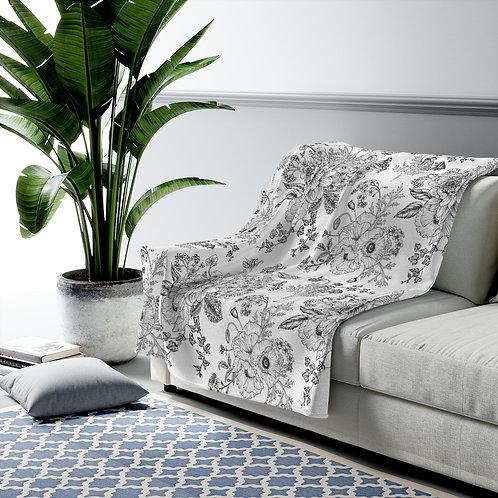 Garden sketches Velveteen Plush Blanket