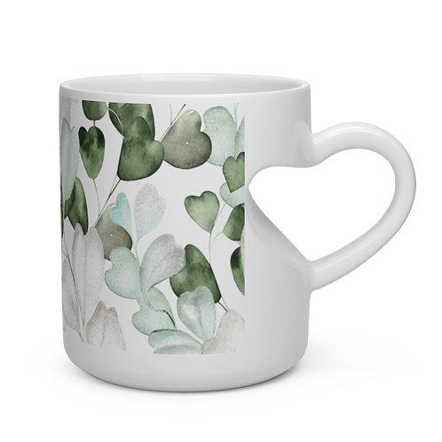 Leaves and Vines Heart Shape Mug