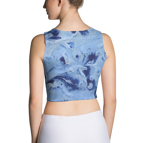 Blue Paint Crop Top