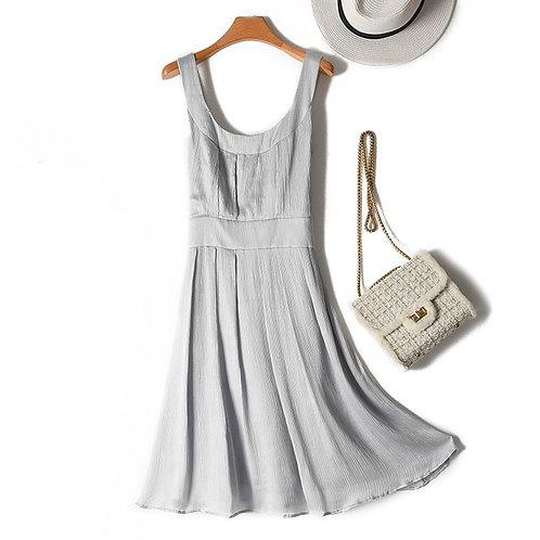 100% Natural Silk Elegant Short Dress