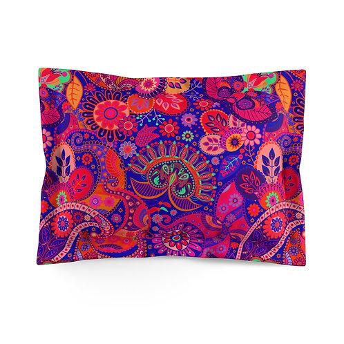 Happy Paisley Pinks Microfiber Pillow Sham