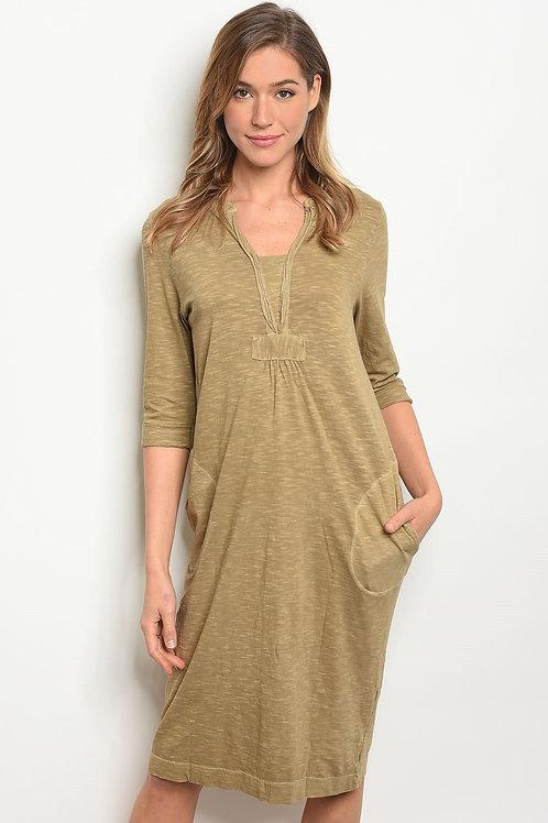 Womens Olive Dress
