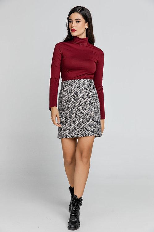 Wool Blend Mini Skirt by Conquista