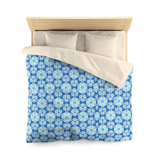 Blue Quilt Microfiber Duvet Cover