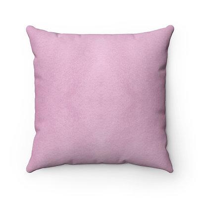 Rosé Spun Polyester Square Pillow