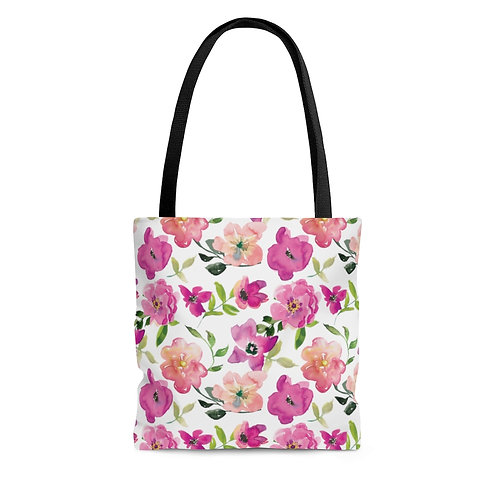 Blush Pink Floral Tote Bag