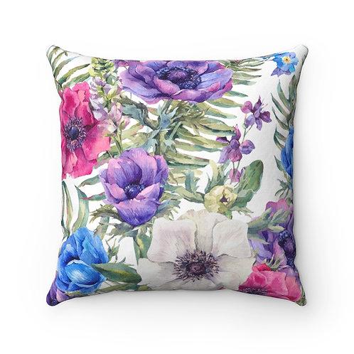 Anemones Spun Polyester Square Pillow