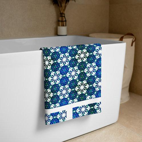 Blue pattern Towel