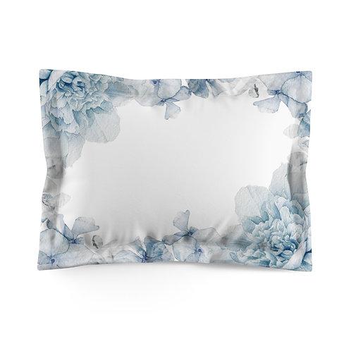 Hydrangea Lt. Blue Microfiber Pillow Sham