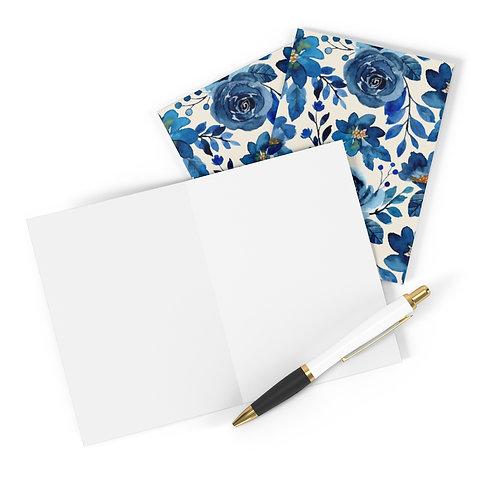 Blue Garden Greeting Cards (8 pcs)