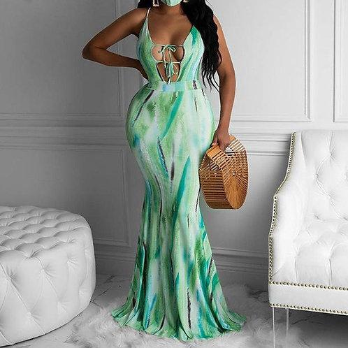 Tie-dye Printed Long Dress