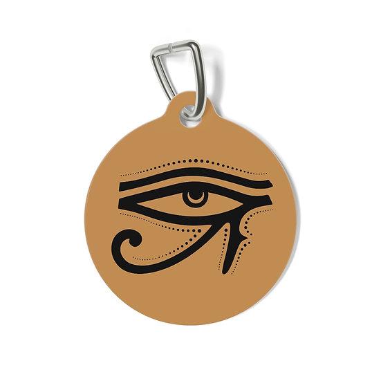 Egyptian Eye Pet Tag